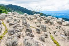 Lan Hin Pum (natural phenomenon) at Phu Hin Rong Kla national park - stock photo