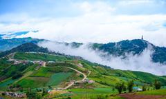 Mountain road at ( phu tubberk) in Phu Hin Rong Kla National Park Stock Photos