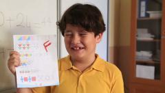 Impassive schoolboy Stock Footage