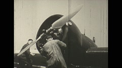 Vintage 16mm film, 1938, Germany, Fokker mechs and prop Stock Footage