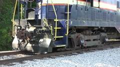 Close Up Trail Locomotive Stock Footage
