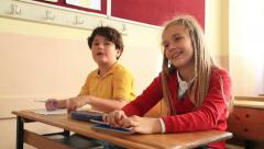 Elemantary students in classroom 5 - stock footage