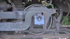 Steel Train Wheel Closep Up Stock Footage