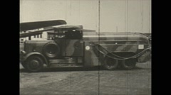 Vintage 16mm film, 1938, Germany, Junkers Ju 52 refuel #1 Stock Footage