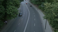 Traffic on a street in Warsaw Stock Footage