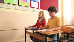 Elemantary students in classroom 7 - stock footage