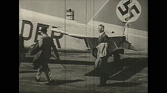 Vintage 16mm film, 1938, Germany, Junkers Ju 52 passengers #3 Stock Footage