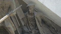 View of a section of Pomnik Powstania Warszawskiego monument, Warsaw Stock Footage