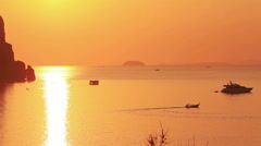 Phi Phi islands Sunset Thailand Stock Footage