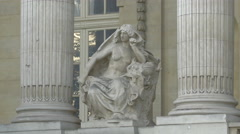 Statue at the Great Palace (Grand Palais), Paris Stock Footage