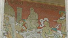 Mural painting at the Great Palace (Grand Palais), Paris Stock Footage