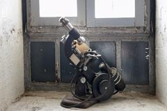 Antique microscope Stock Photos