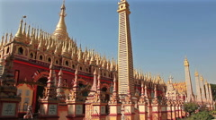 Thandboddhay Paya Temple Stock Footage
