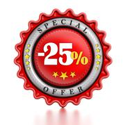 -25% Sale stamp Stock Illustration