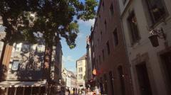 Crowded Oldtown of Düsseldorf Germany Stock Footage