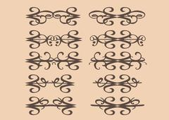 Vintage decorative design elements - stock illustration