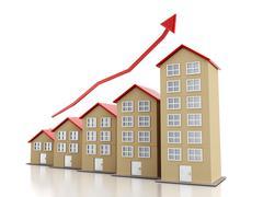 Rising housing market Stock Illustration