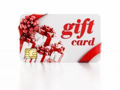 Gift card - stock illustration