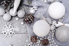 Christmas Background in Pastel Colors Stock Photos