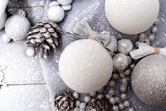 Christmas Background in Pastel Colors with a Balls Stock Photos