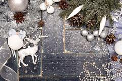 Stock Photo of Christmas Background with a Snowflake