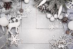 Christmas Snowy Background Stock Photos