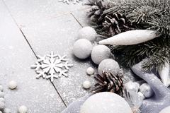 Stock Photo of Christmas Composition with Snowflake