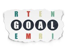Marketing concept: Goal in Crossword Puzzle Piirros