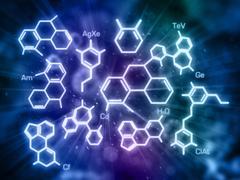 Molecule model - stock illustration