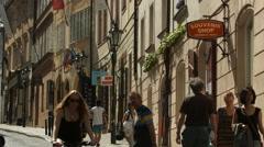 Souvenir shop on Nerudova Street, Prague Stock Footage