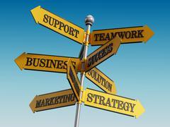 Business signboard - stock illustration
