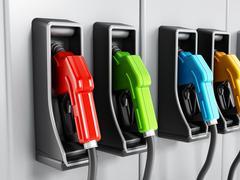 Fuel pumps Stock Illustration
