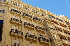 Architectural details of facades stone houses. Valencia. Spain. Kuvituskuvat