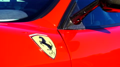 Ferrari 360 Challenge Stradale sports car detail Stock Footage