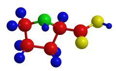 Stock Illustration of Molecular structure of proline (proteinogenic amino acid)