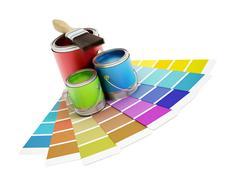 Home decorating - stock illustration
