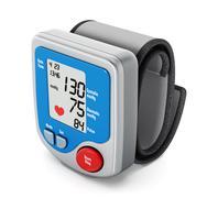 Digital blood pressure monitor - stock illustration