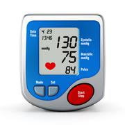 Digital blood pressure monitor - stock illustration