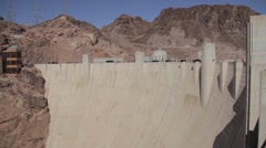 Hoover dam, camera looking down - stock footage