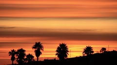 Sunrise in American town, real time Stock Footage