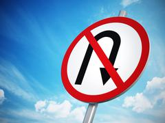 No U-Turn sign Stock Illustration