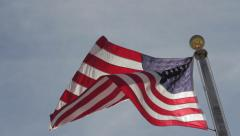 American flag in the wind Stock Footage