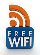 Free WiFi icon - stock illustration