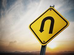 Stock Illustration of U turn road sign
