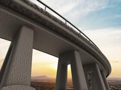 Freeway span - stock illustration