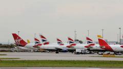 London Heathrow - Europe's Busiest Airport Stock Footage