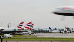 London Heathrow - Europe's Busiest Airport Stock Footage