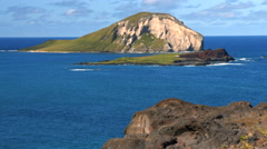 4k Oahu Hawaii Coast, Rabbit Island. Stock Footage