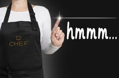 Stock Photo of hmmm background cook operated touchscreen concept