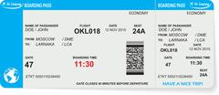 Stock Illustration of Pattern of airline boarding pass ticket